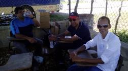 Con Gorra y lentes: Ottoniel Sanchez, presidente de la Convencion Dominicana.